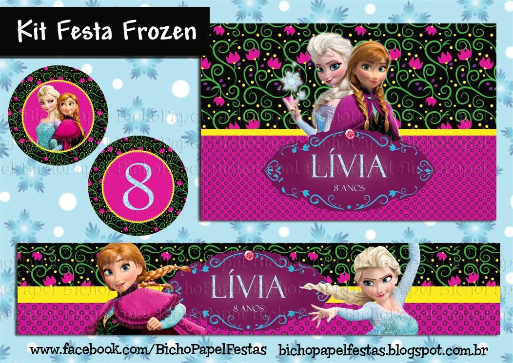 kit festa frozen anna elsa