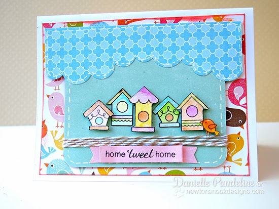 Tweet Talk Bird card by Danielle Pandeline for Newton's Nook Designs