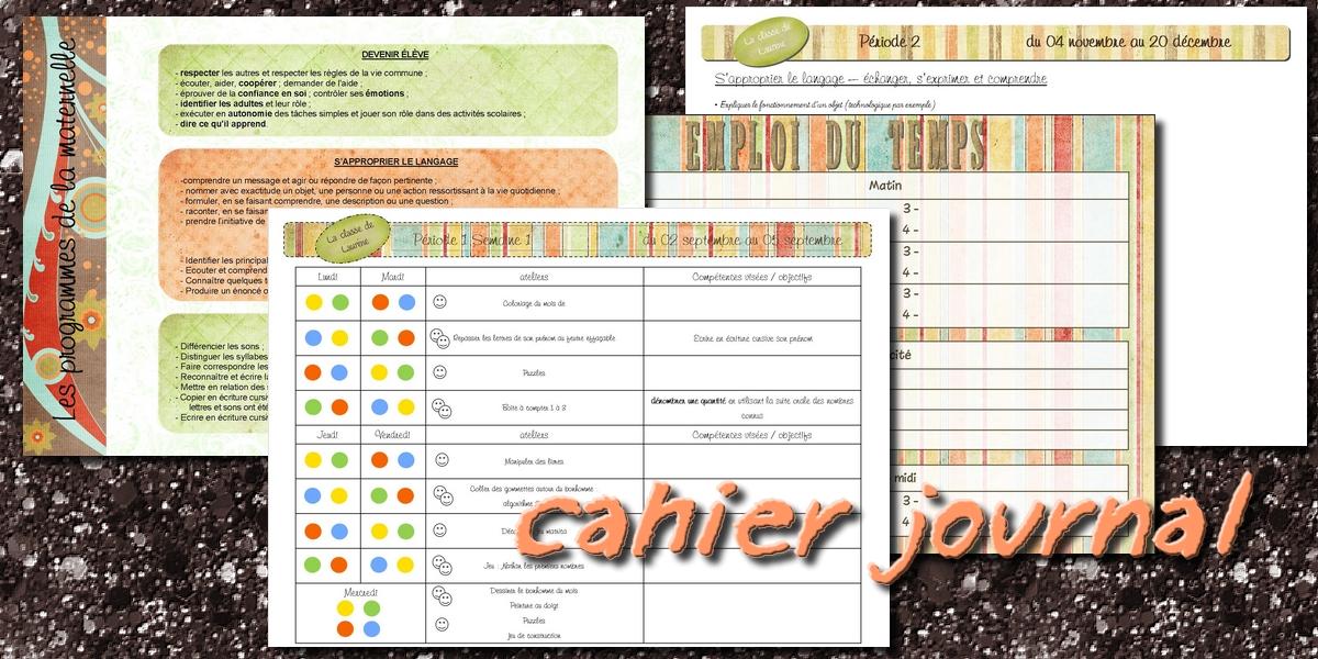 Assez La maternelle de Laurène: Cahier enseignante et cahier journal HC84