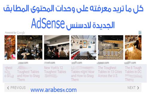 شرح وحدات المحتوى المطابق الجديدة لادسنس AdSense