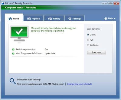 microsoft security essentials(mse)