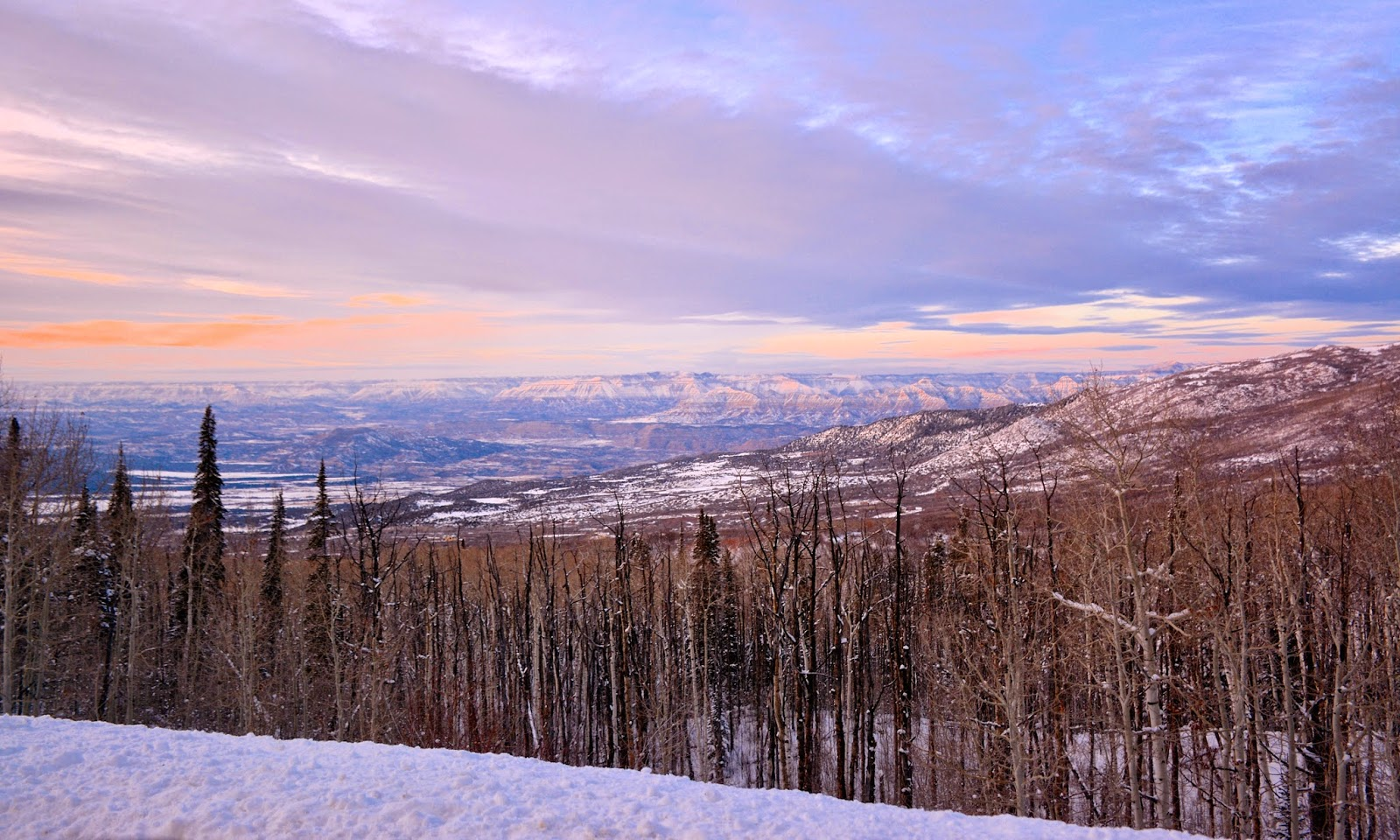 Sunset in western Colorado