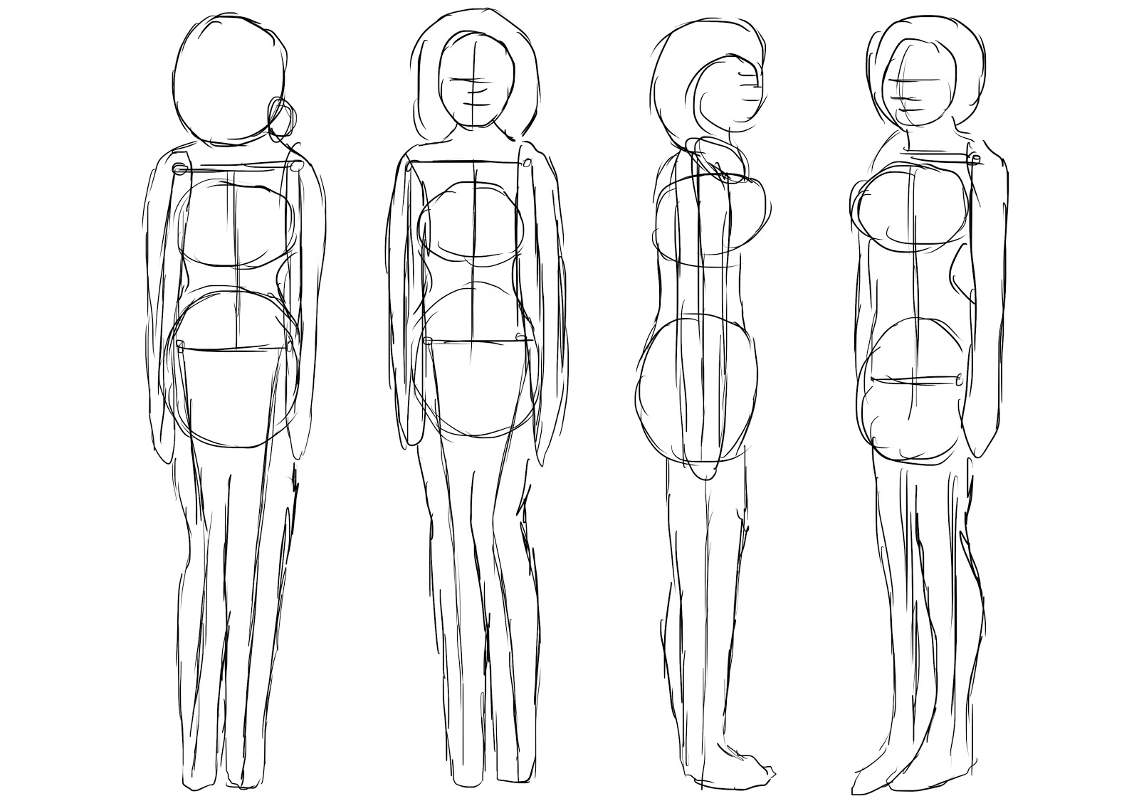 Character Design Outline : Brooke hayes animation november