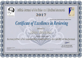 Certificate of excellence as a reviewer