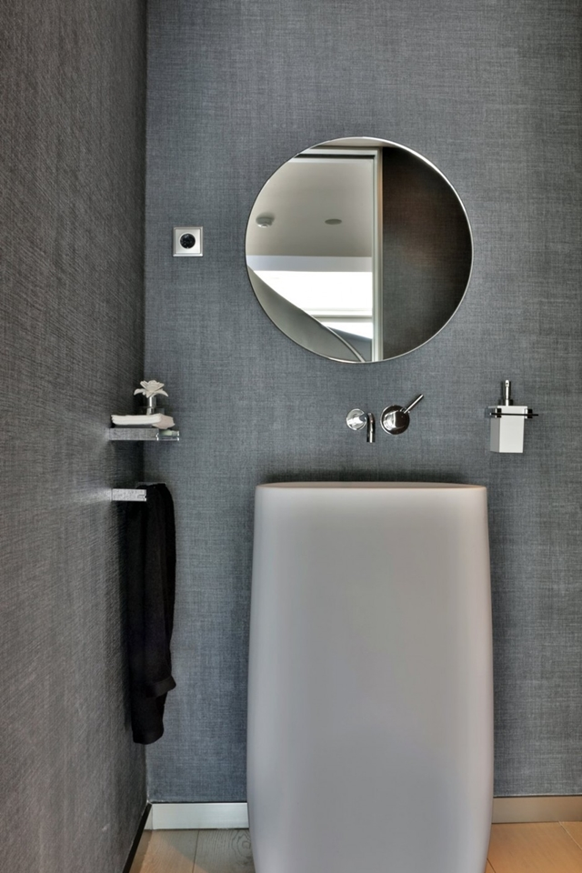 Modern bathroom furniture in The Memory House by A-Cero Architects