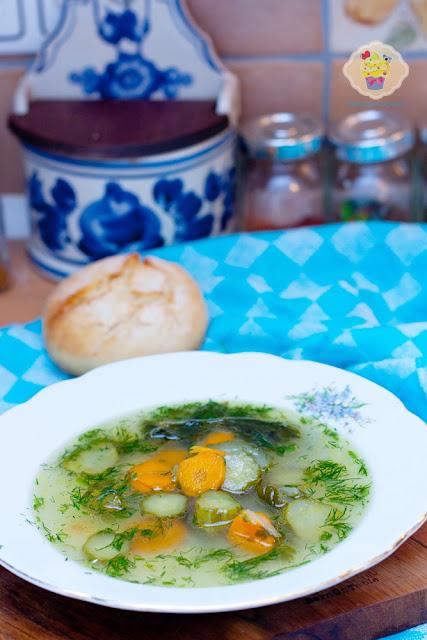 zupa ogórki, zupa z ogórków