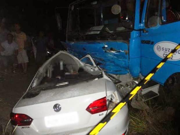 Batida ocorreu na região de Alcobaça (Foto: Edvaldo Alves/ Liberdadenews.br)
