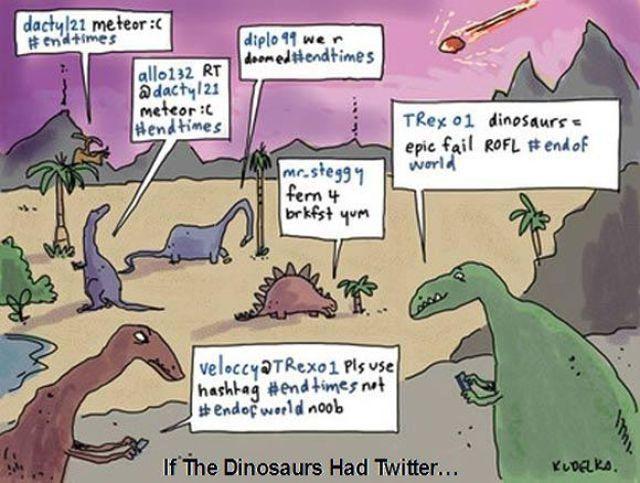 If dinosaurs had twitter