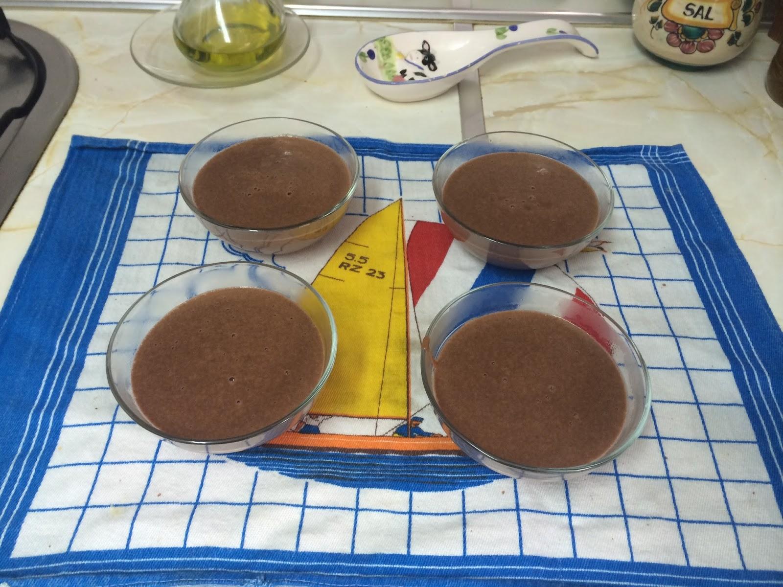 como hacer natillas de chocolate caseras