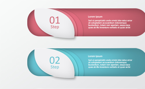 Free PSD Clean Number Banners