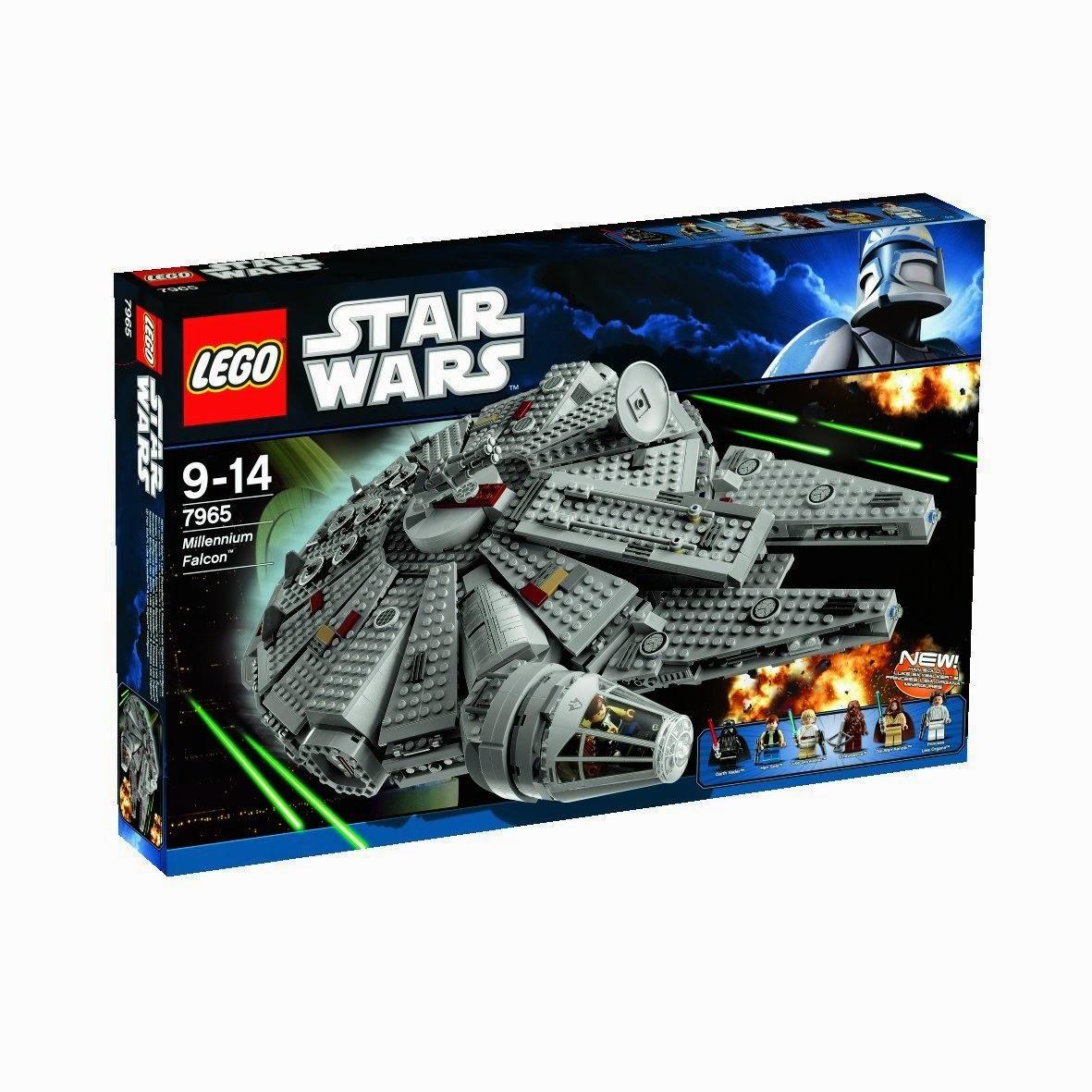 Caja de lego Nave Halcón Milenario star wars