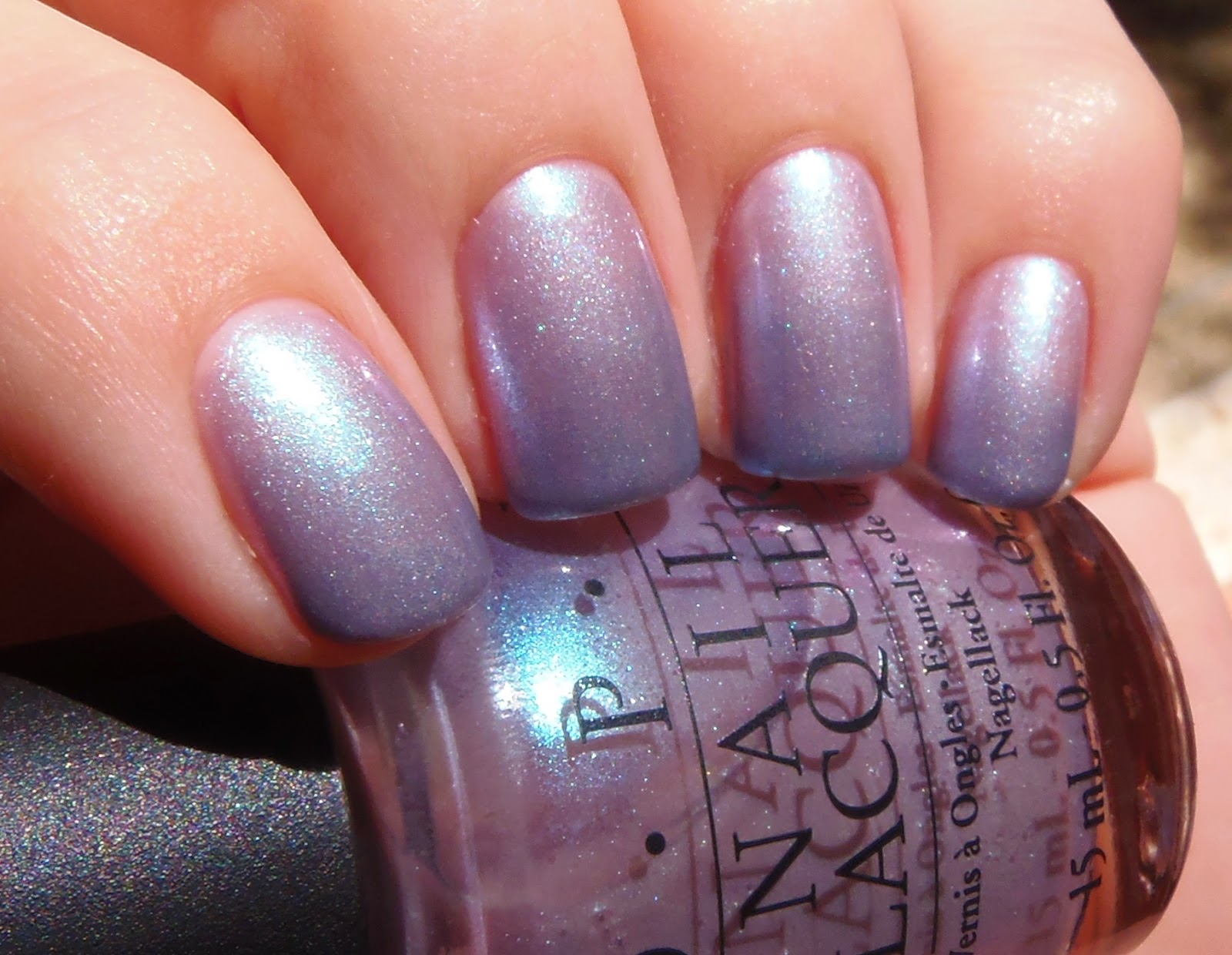sparkly vernis: opi yokohama twilight is a sheer light pink with