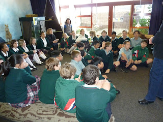 Room 27 in the education room at the Auckland Zoo. Learning about what the zoo is doing to help save kiwi