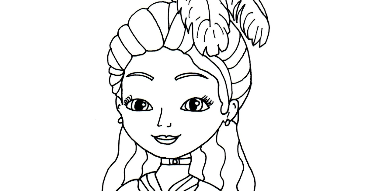 sofia the first coloring pages princess clio sofia the first coloring page