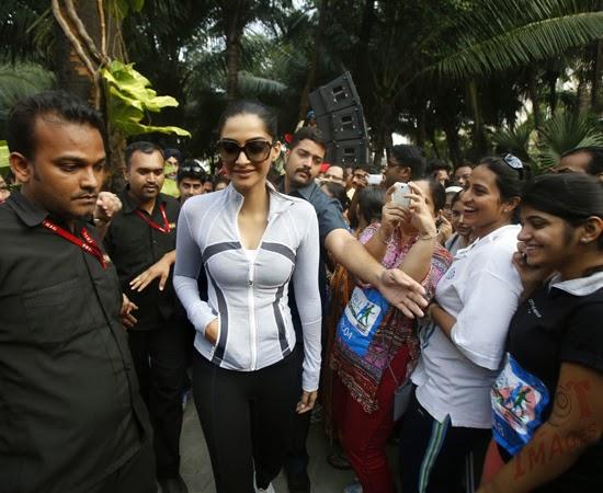 Sonam Kapoor in skin tight t shirt