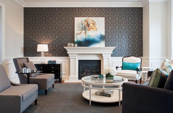 Ruang Keluarga: Contoh Wallpaper Dinding Ruang Tamu Gambar Wallpaper ...