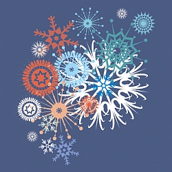 танцующие снежинки