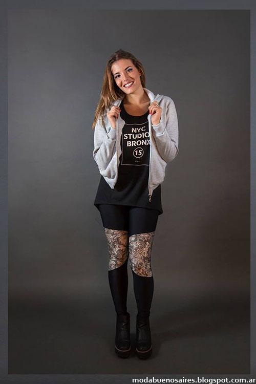 Flor Lazzari otoño invierno 2015 moda mujer leggings y calzas con recortes moda mujer 2015.