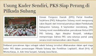 Usung Kader Sendiri, PKS Siap Perang di Pilkada Subang