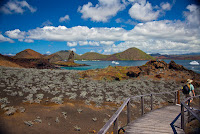 Steps and Path Protecting Environment on Bartolome, Galapagos