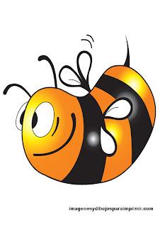 abeja para niños para imprimir