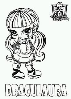 Monster High, Dibujos de Draculaura para Colorear