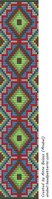 схемы бисероплетение ткачество ручое браслет орнамент фенечки