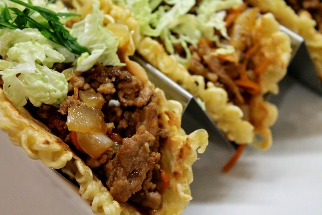 Tacos exóticos - tacos de ramen