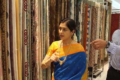 devayani new @ textiles room event