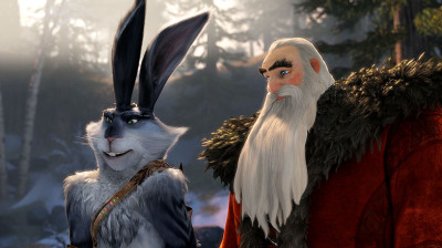 Santa and Bunny in Rise of the Guardians disneyjuniorblog.blogspot.com
