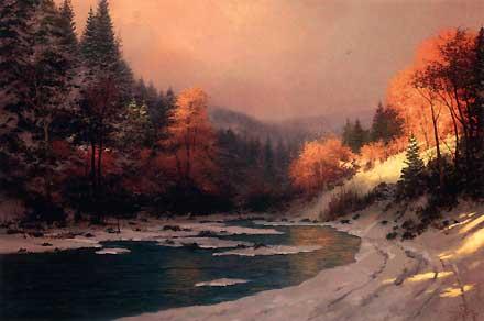 Thomas Kinkade Autumn Snow1