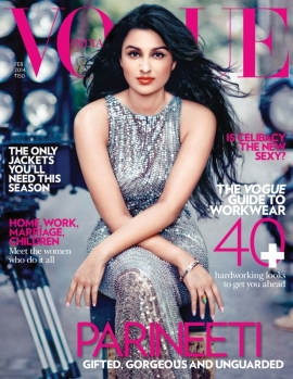 Parineeti chopra,is on VOGUE MAGAZINE'S Cover