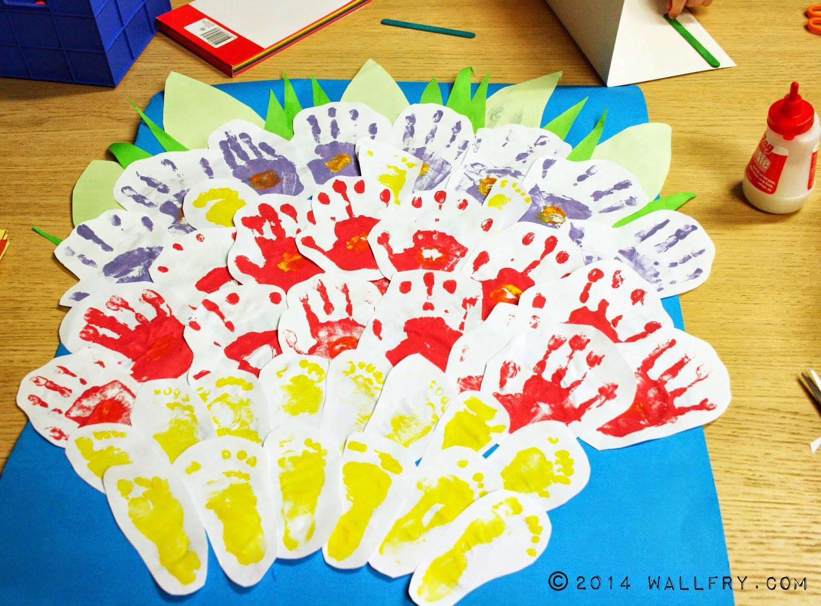 WallFry | Wall Art for Small Fry: Hand Print Bouquet - DIY Tutorial