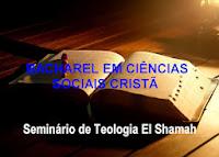 BACHAREL EM CIÊNCIAS SOCIAIS CRISTÃ