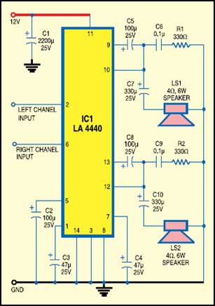 Laptop Audio Amplifier Circuit