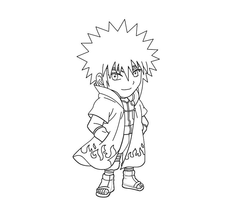 printable naruto minato funny coloring pages