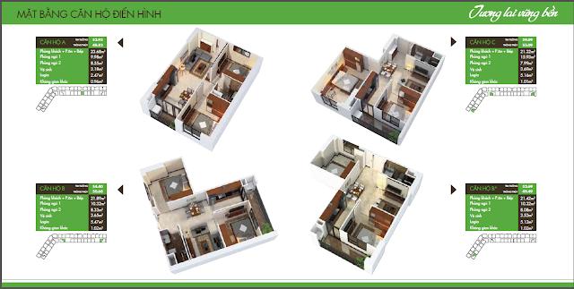 mặt bằng chung cư hh2 dương nội hình ảnh 2
