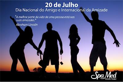 20 de julho Dia Nacional do Amigo e Internacional da Amizade