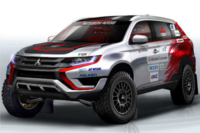 Mitsubishi Outlander PHEV Cross Country Rally 2015 (Rendering) Front Side