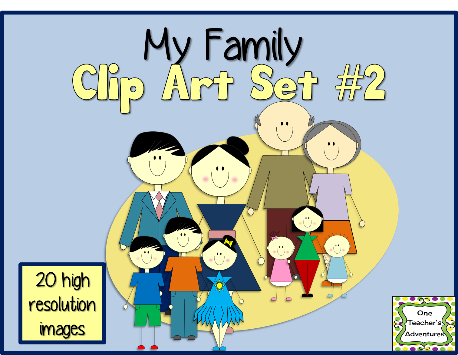 http://www.teacherspayteachers.com/Product/My-Family-Clip-Art-Set-2-1393370