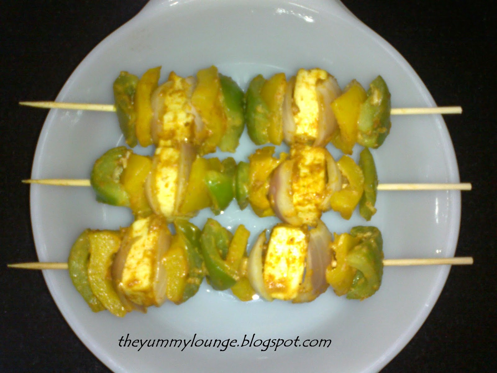 Paneer Tikka in Satay Stick Recipe