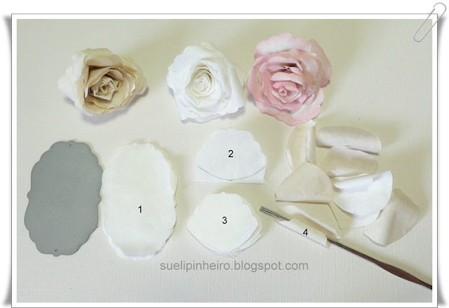 Rosas hechas con filtro de cafe