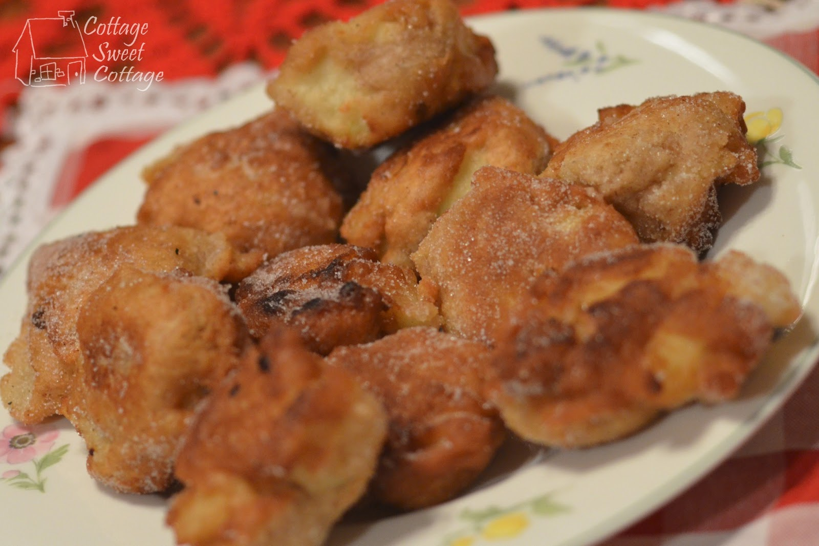 Cottage sweet cottage homemade apple fritters