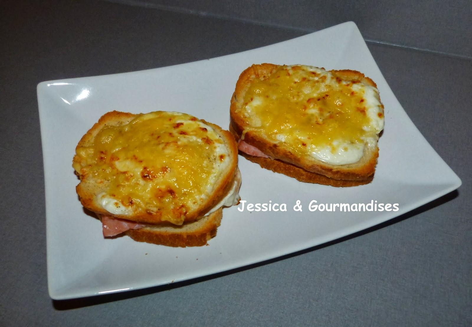 Jessica gourmandises croque monsieur au four - Croque monsieur au four bechamel ...
