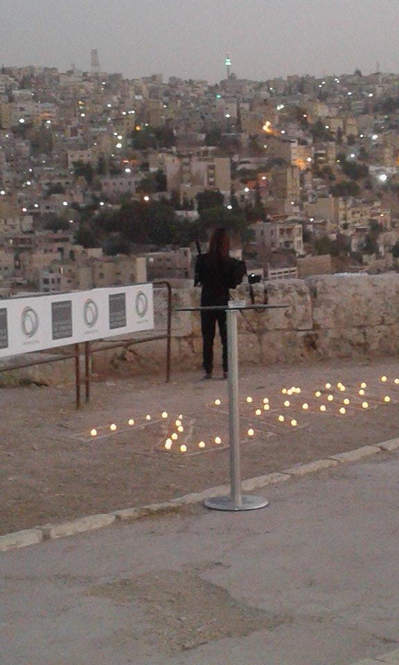 Krystal in Amman Citadel Jordan.