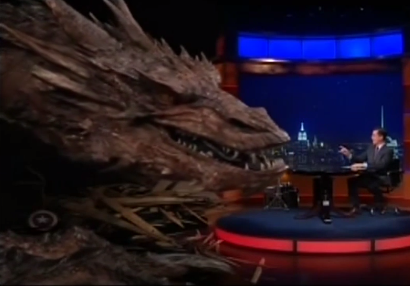 WATCH Stephen Colbert interview Smaug