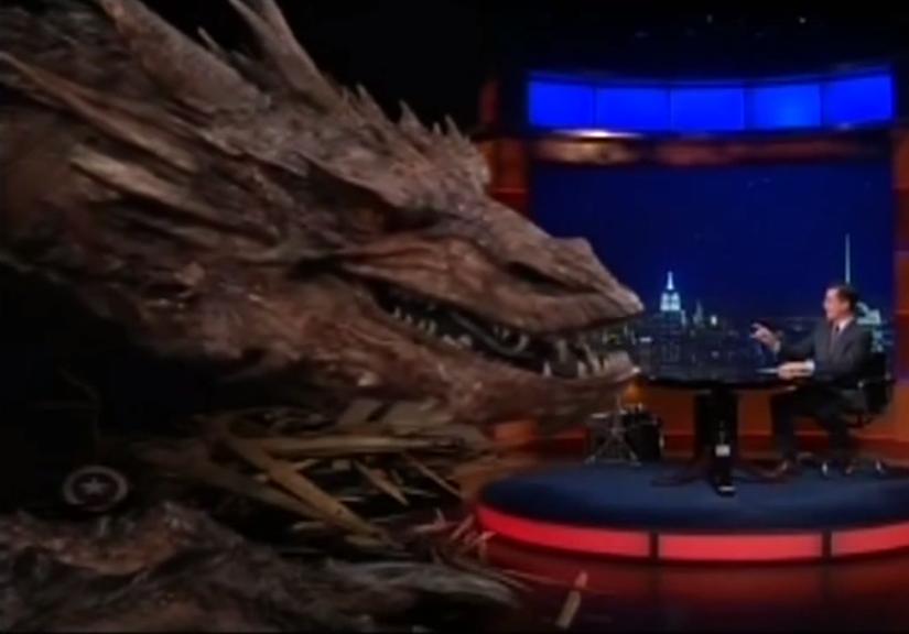 WATCH Stephen Colbert interview Smaug