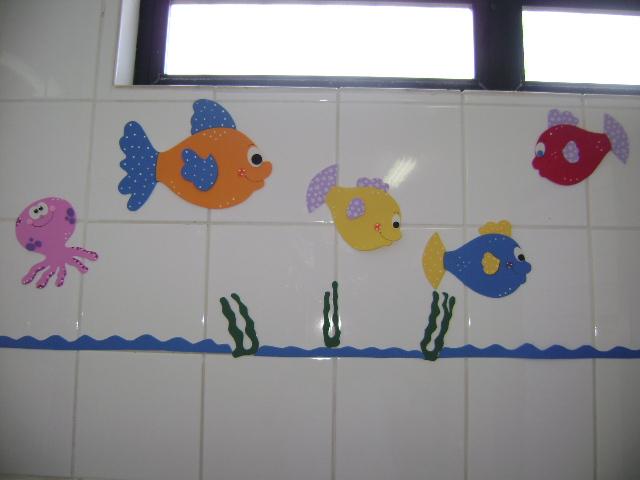 Decoração em EVA Decoração para banheiro -> Decoracao De Banheiro Infantil Em Eva