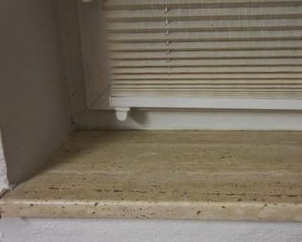 plain white: Selbstgebaute Fensterbänke aus Holz