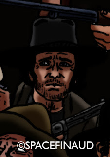 Antony Steffen, l'acteur le moins connu. Et pourtant, il avait tourné dans pas mal de westerns, dont quelques uns intéressants. Mais peut être aussi que ces personnages de anti-héros sont trop caricaturaux.